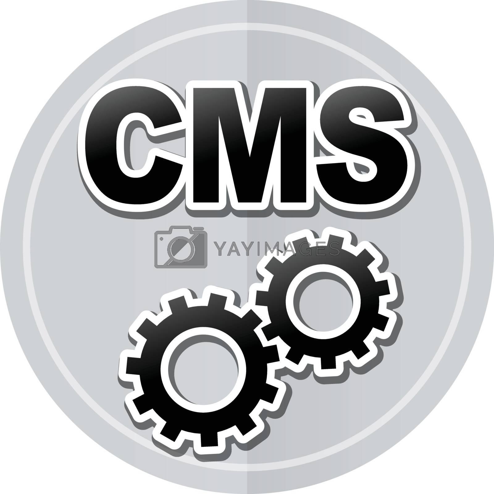 Illustration of cms sticker icon simple design