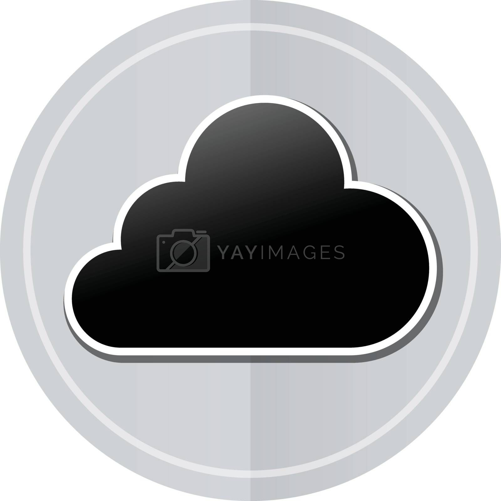 Illustration of cloud sticker icon simple design