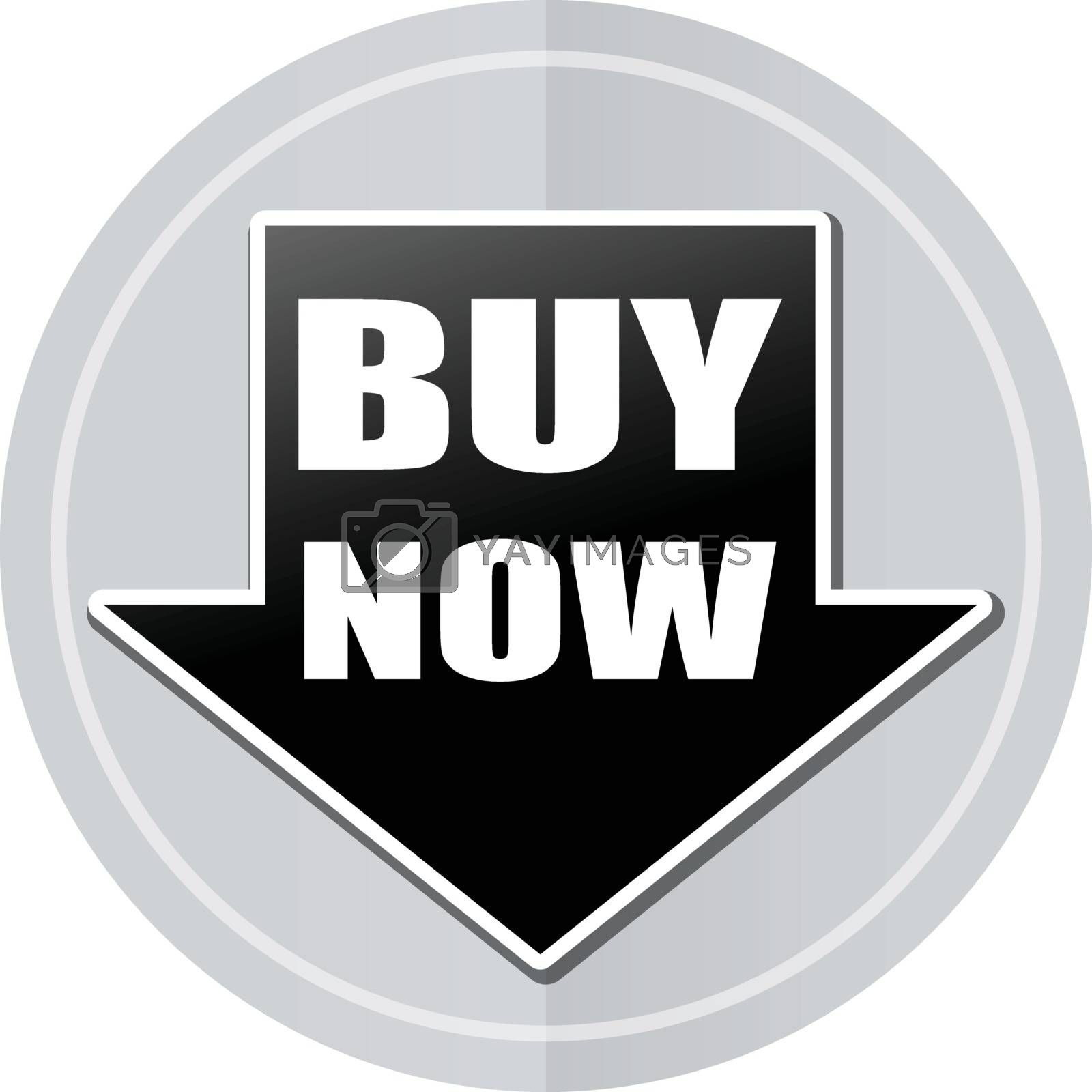 Illustration of buy now sticker icon simple design