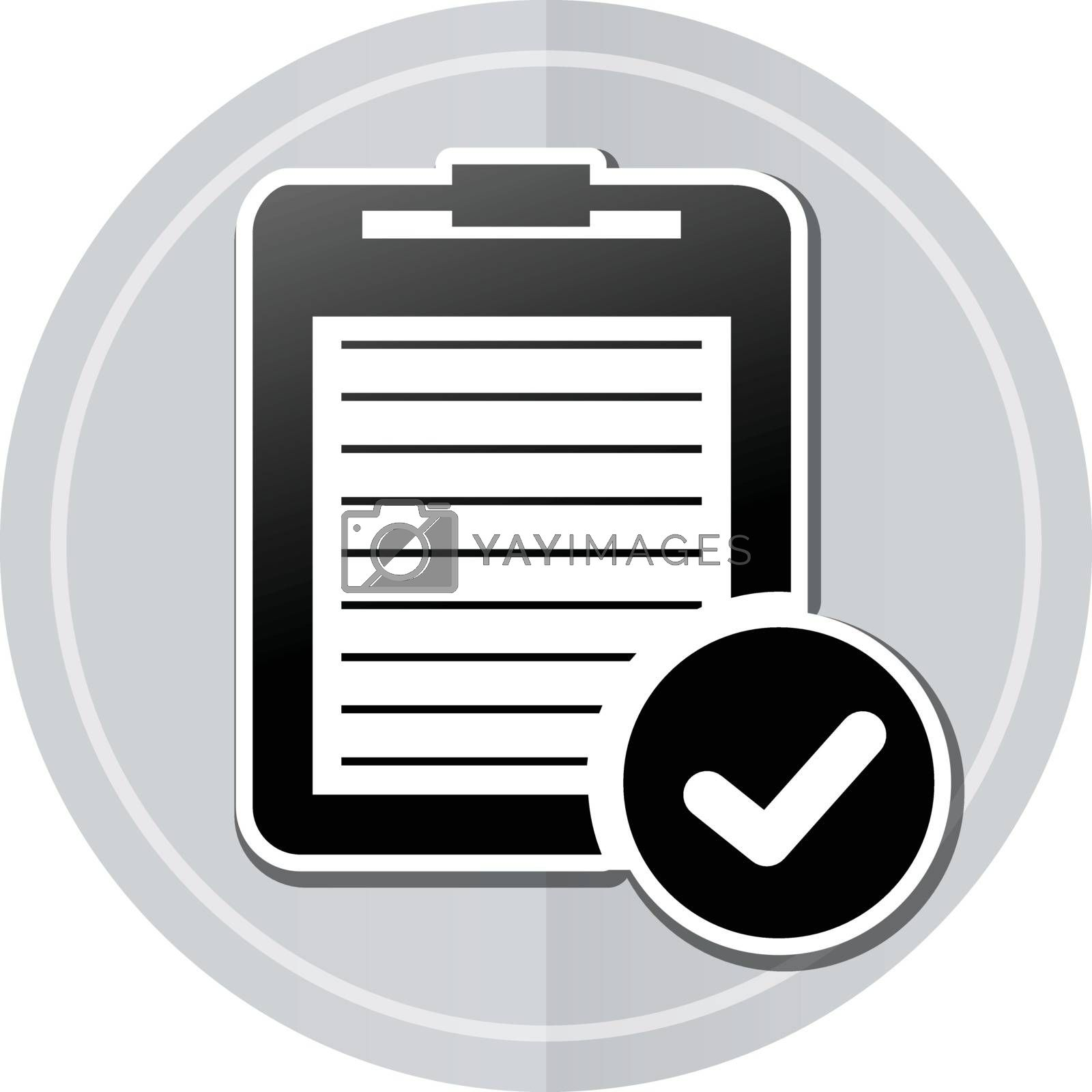 Illustration of report sticker icon simple design