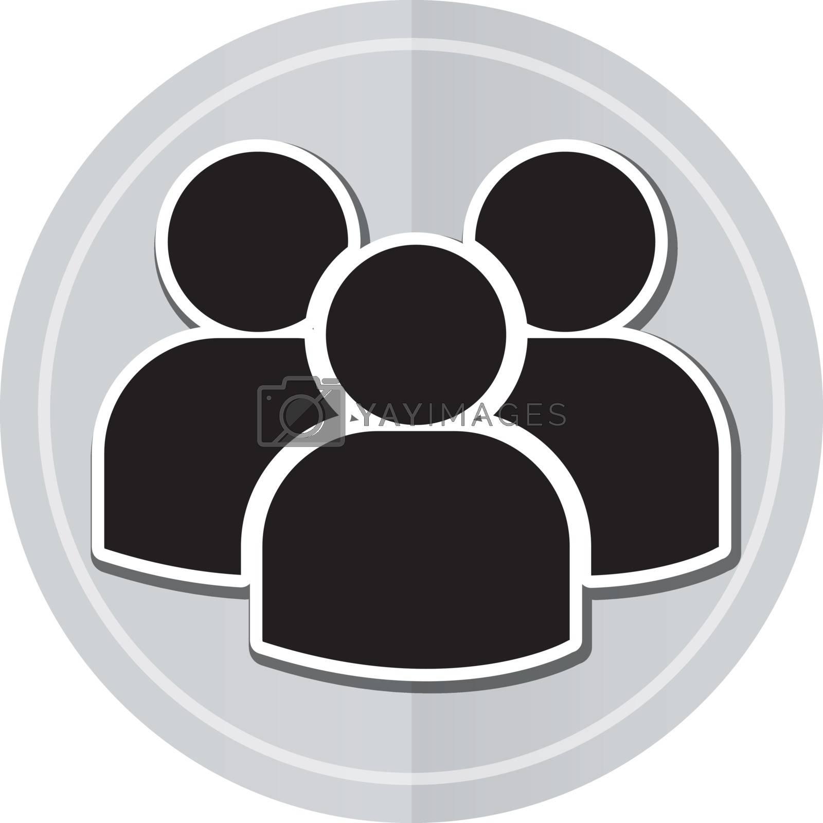 Illustration of team sticker icon simple design