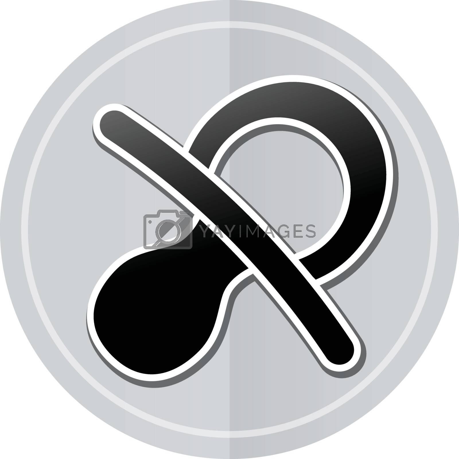 Illustration of baby sticker icon simple design