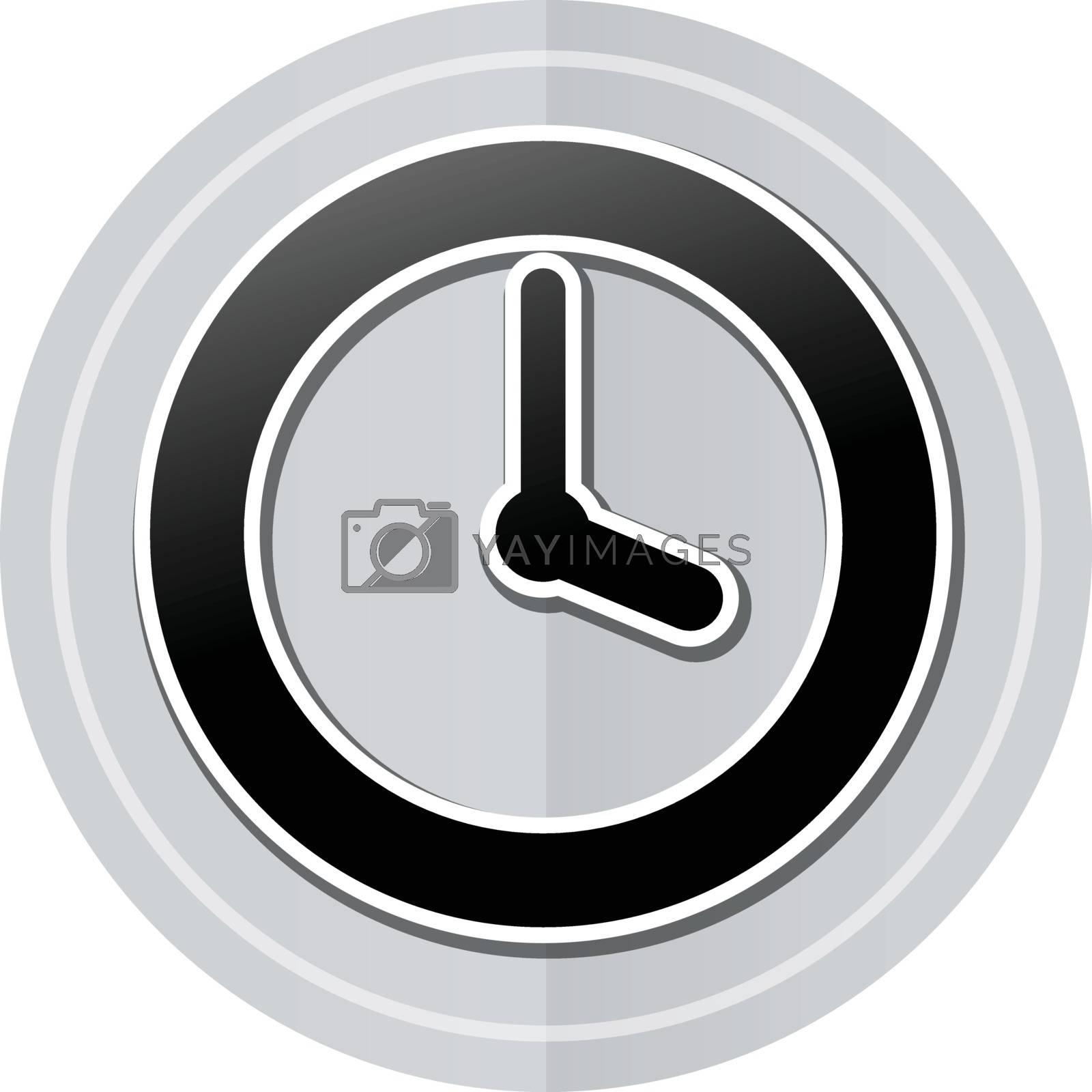Illustration of time sticker icon simple design