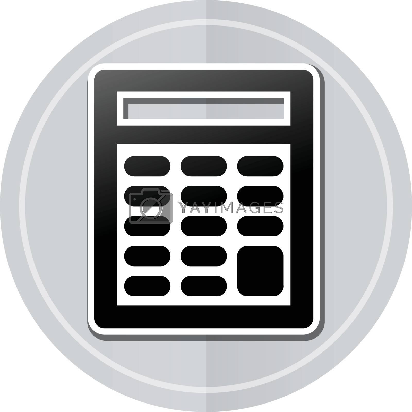 Illustration of calculator sticker icon simple design