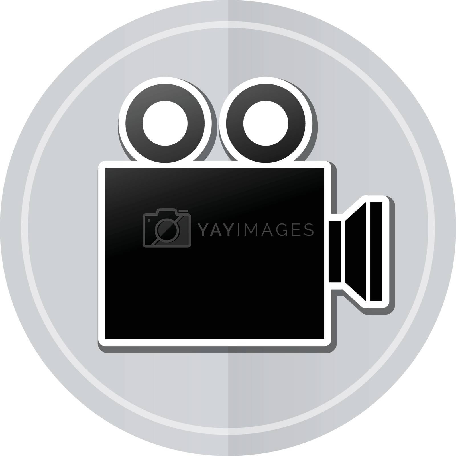 Illustration of cinema sticker icon simple design