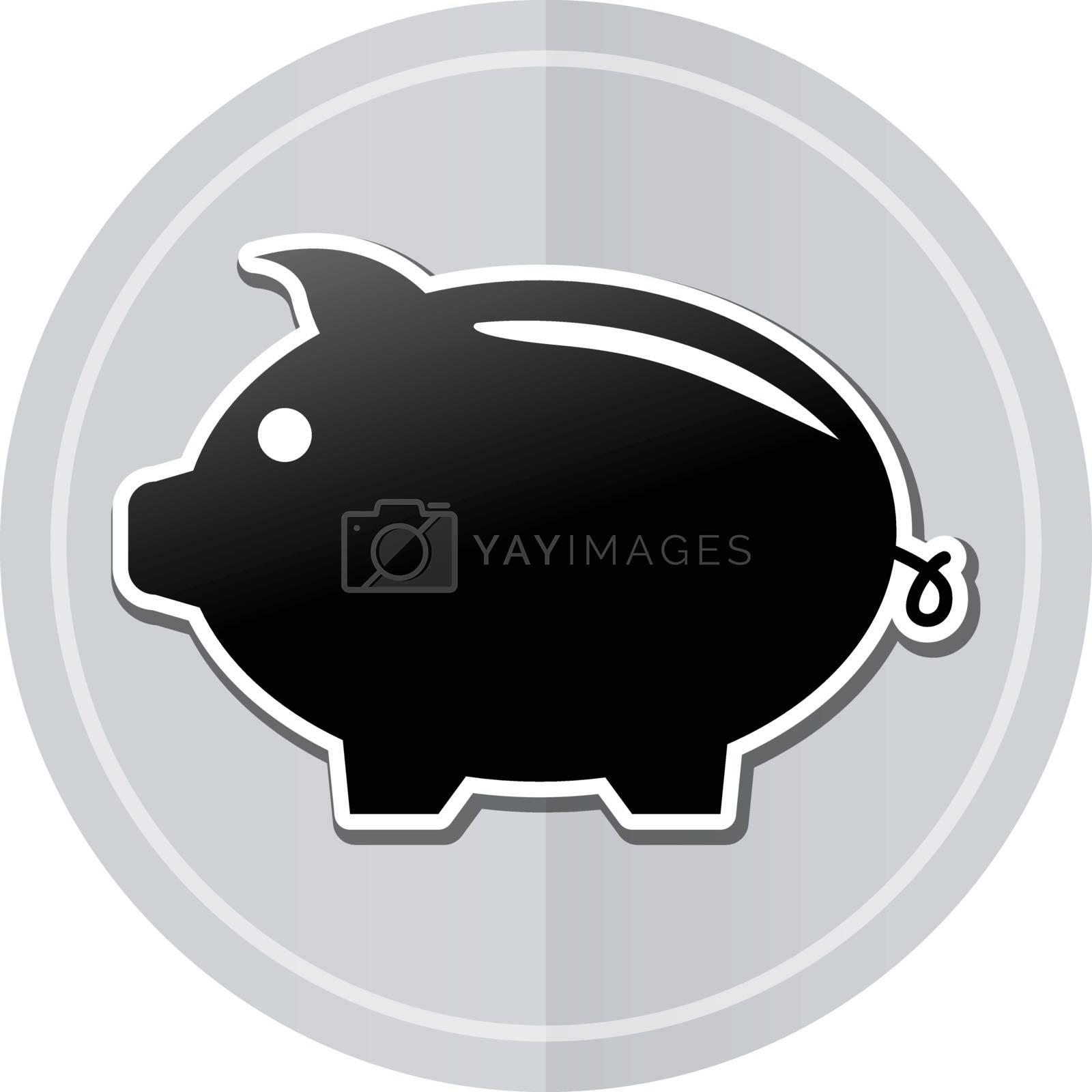 Illustration of piggybank sticker icon simple design