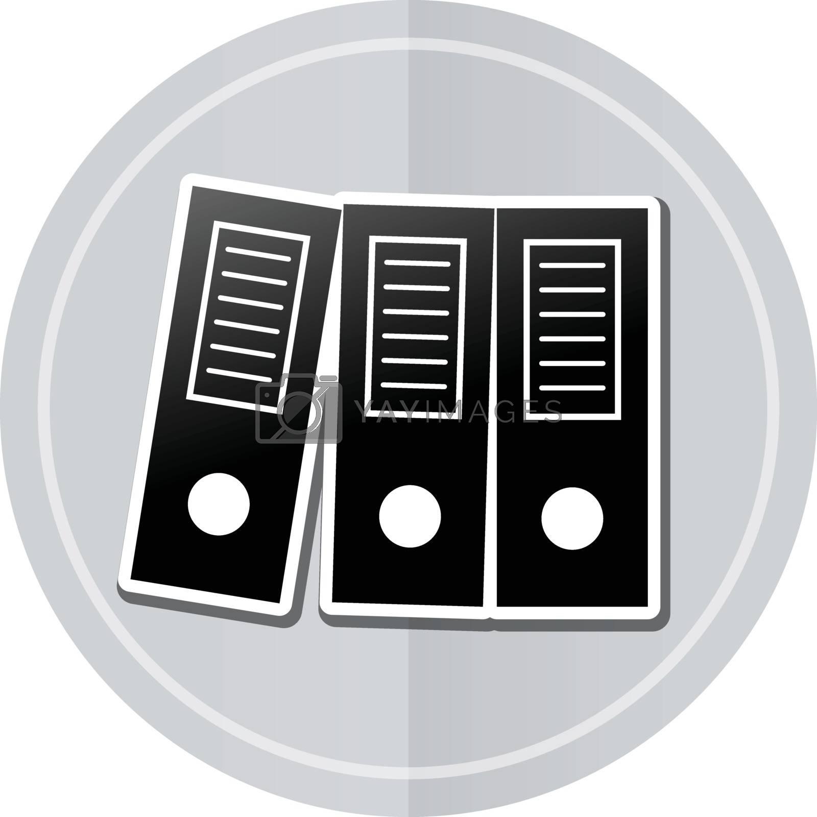 Illustration of binders sticker icon simple design
