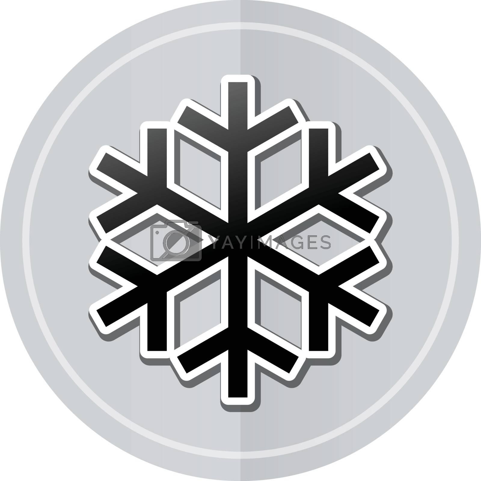 Illustration of cold sticker icon simple design