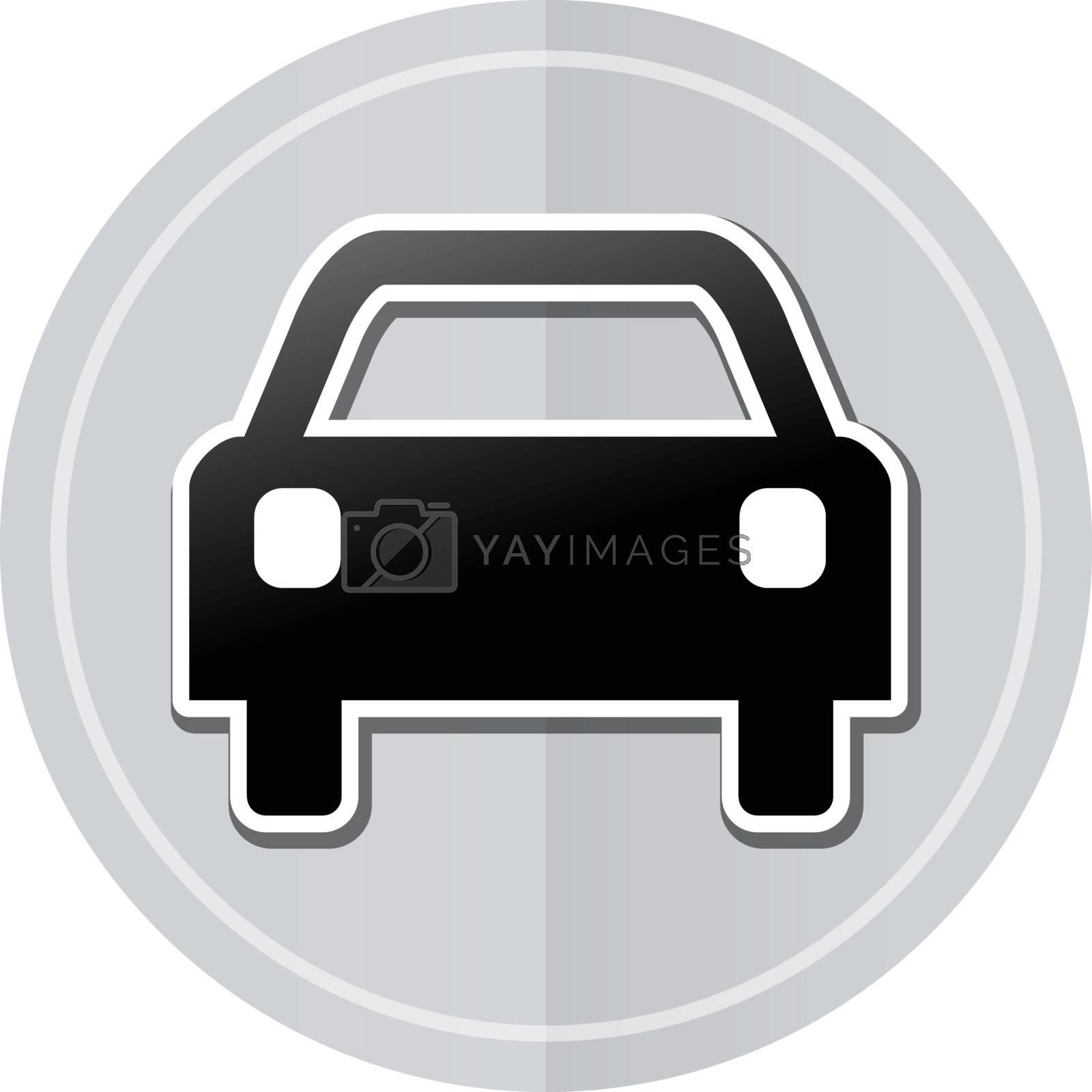 Illustration of car sticker icon simple design