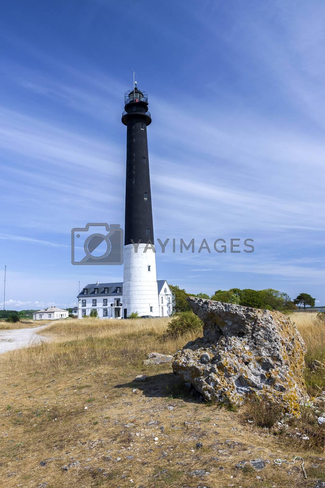 Remoted lighthouse in Saaremaa island, Estonia