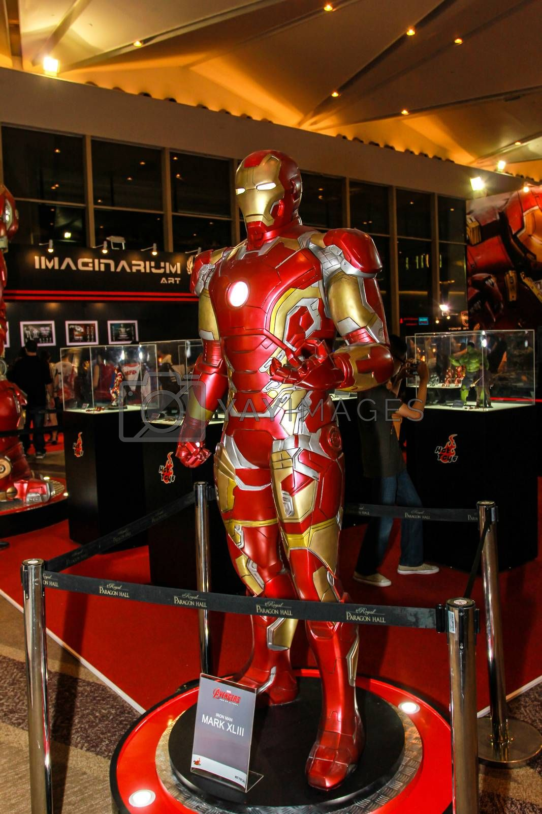 Royalty free image of A model of the character Iron Man from the movies and comics by redthirteen