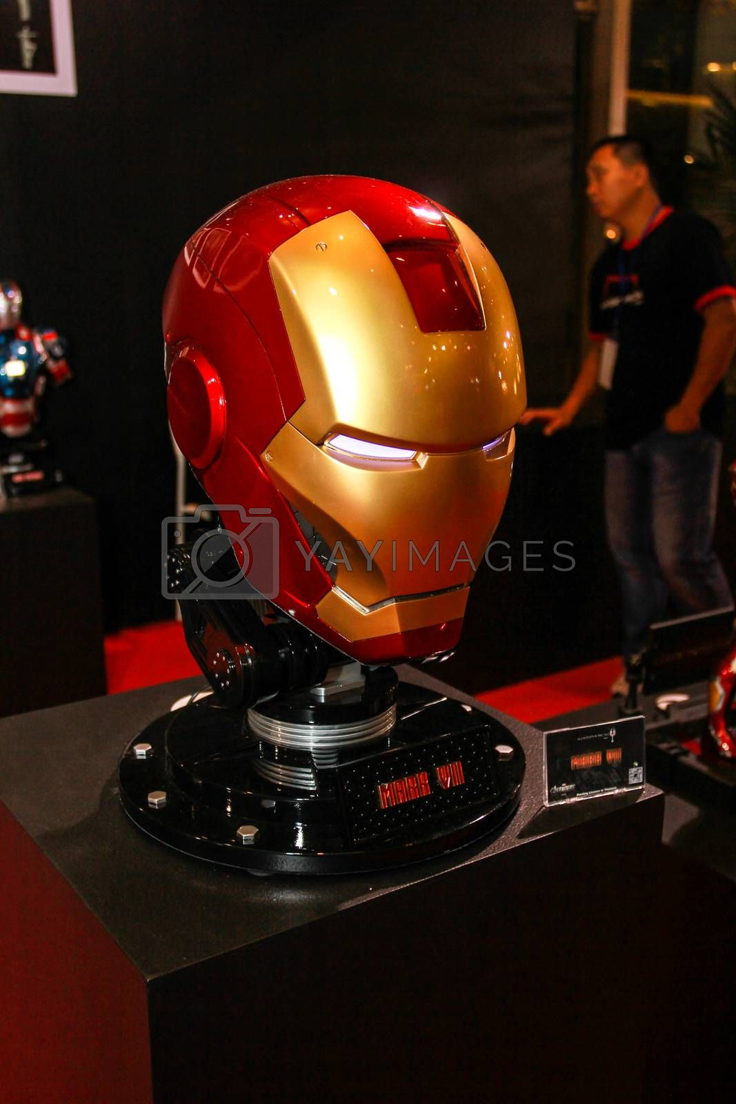 Royalty free image of A model of the Iron Man Mask from the movies and comics by redthirteen