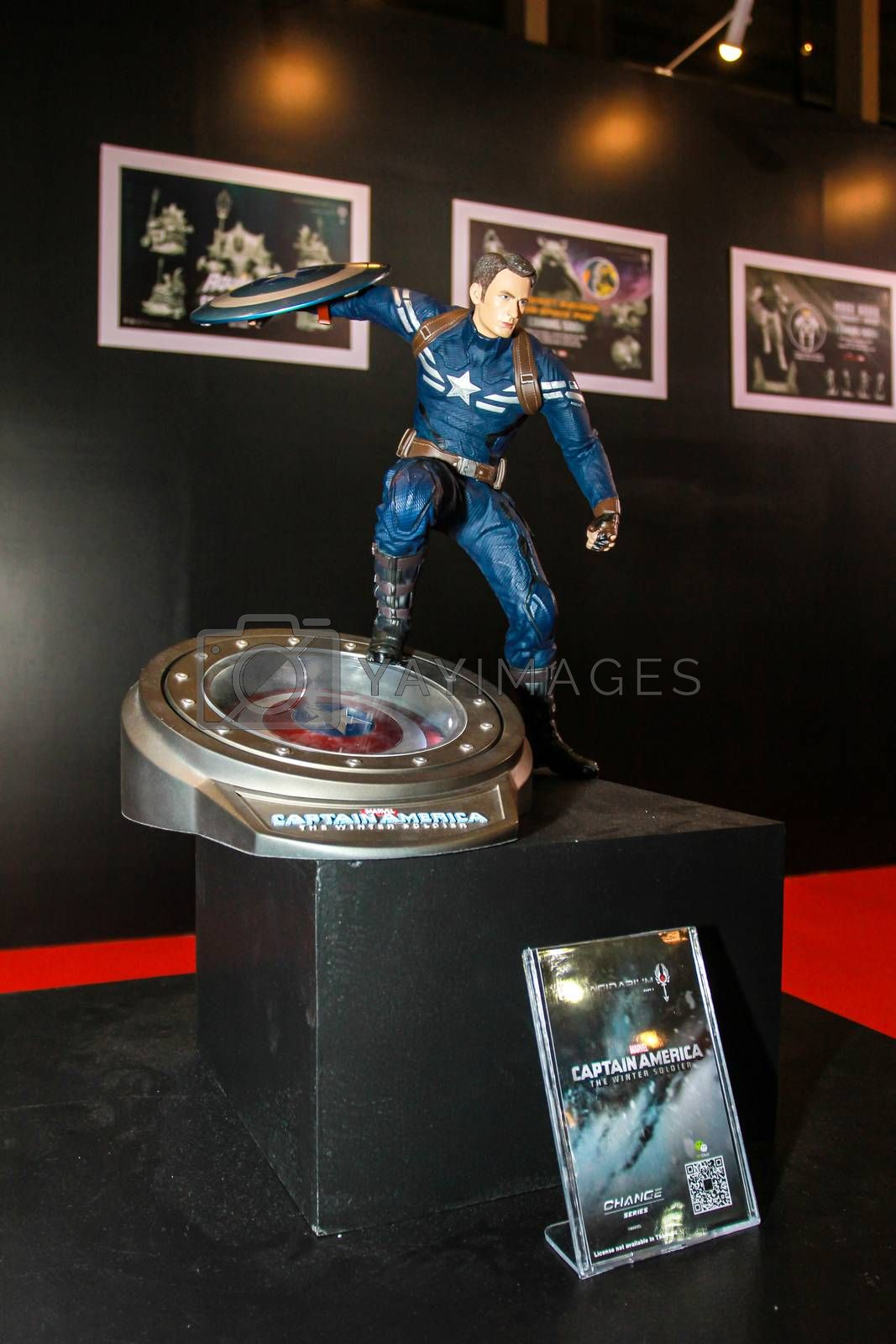 Royalty free image of A model of the character Captain America from the movies and com by redthirteen