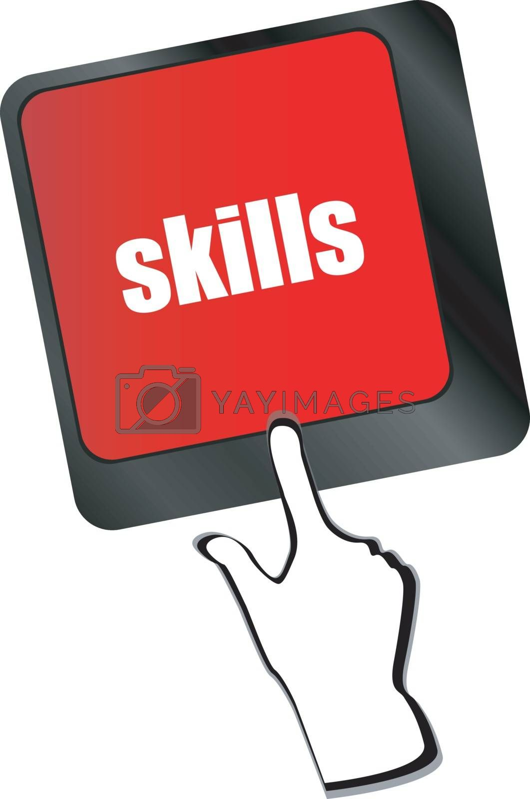 skills message on enter key of keyboard vector