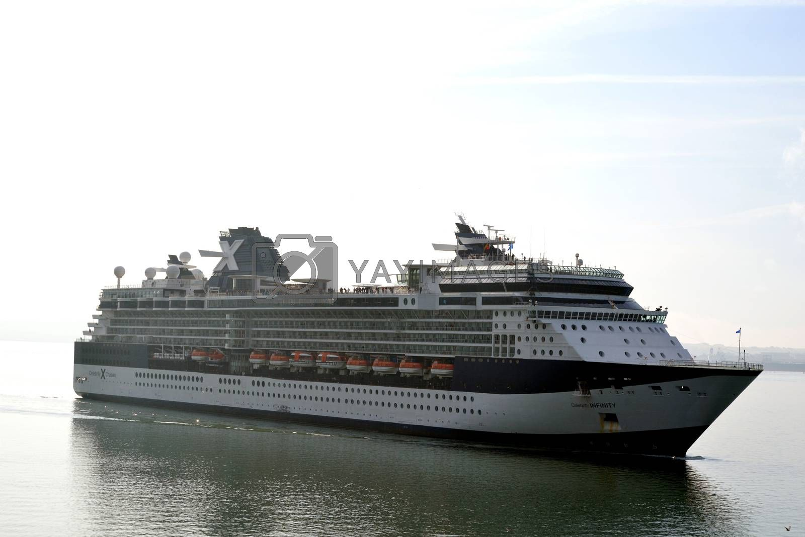 celebrity infinity cruise ship arriving at cobh in ireland