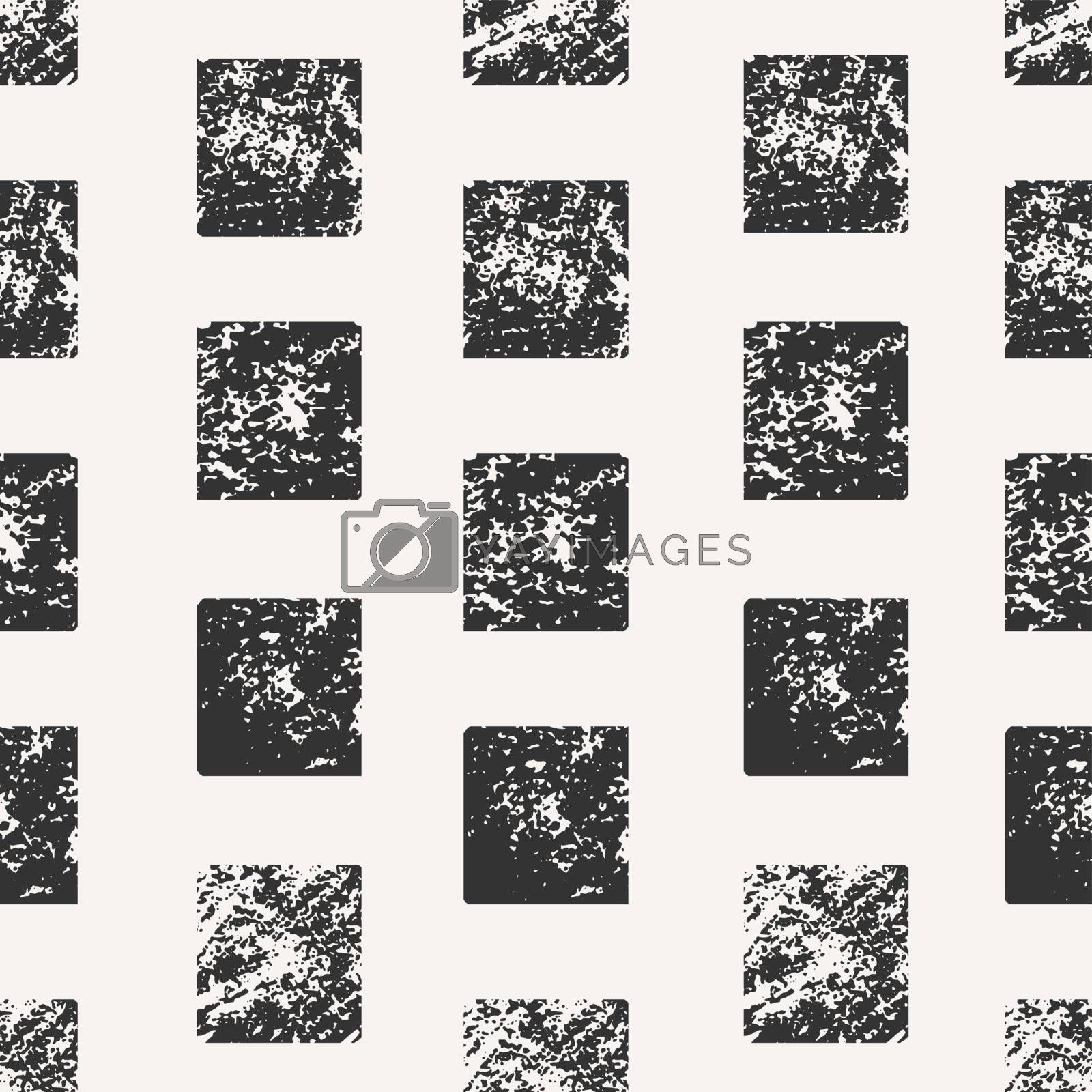 Abstract seamless pattern with stamped rectangles. Hand drawn watercolor geometric pattern.