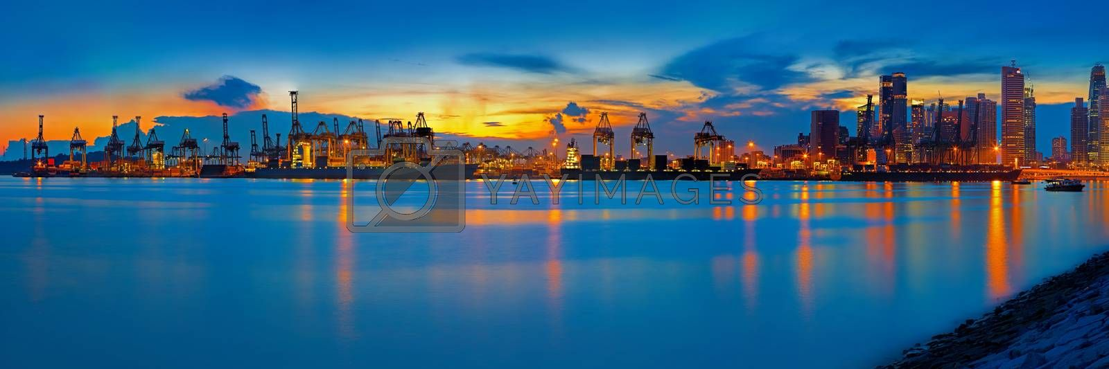 Port of Singapore by kjorgen