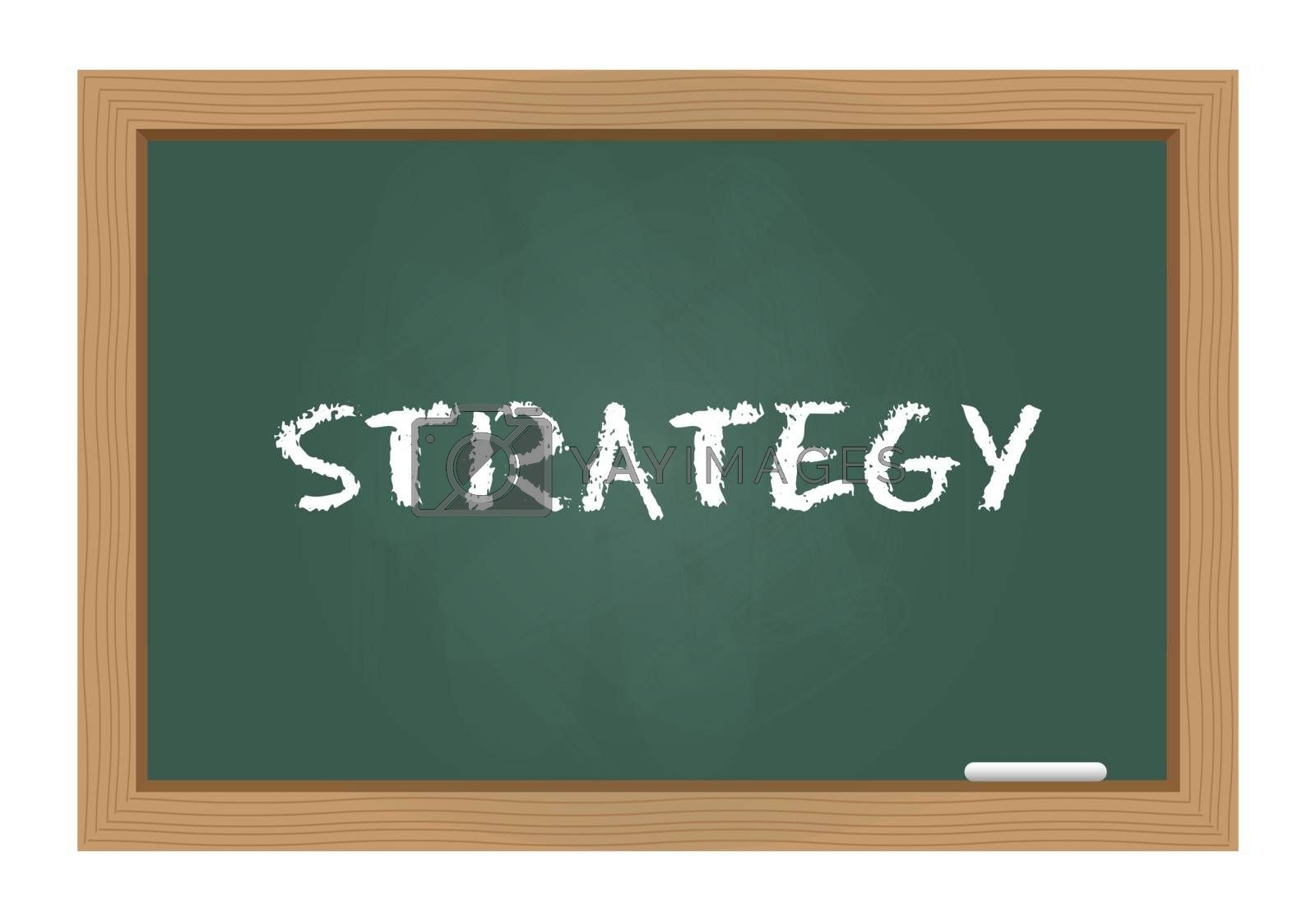Royalty free image of Strategy text on chalkboard by simo988