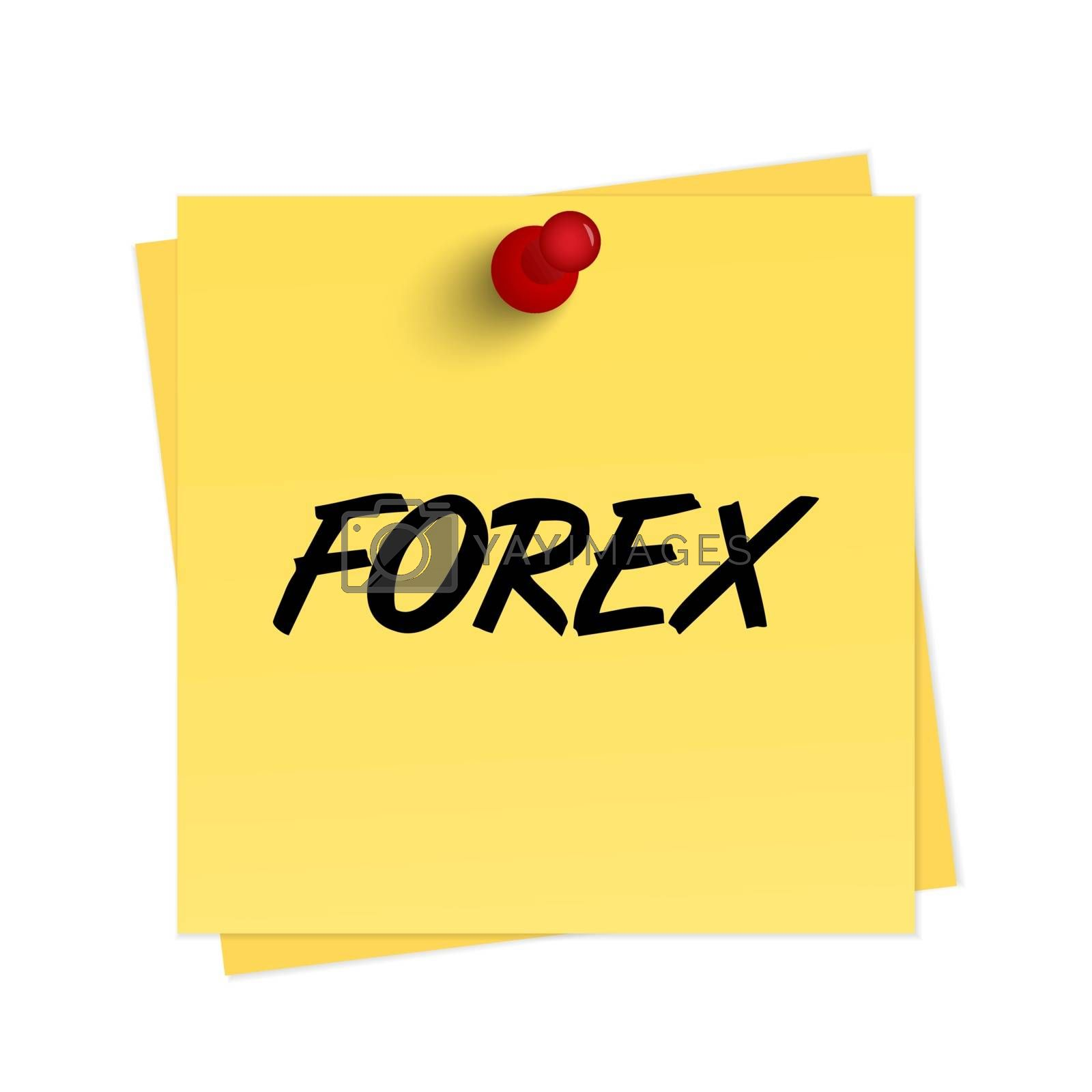 Royalty free image of Forex text on reminder by simo988