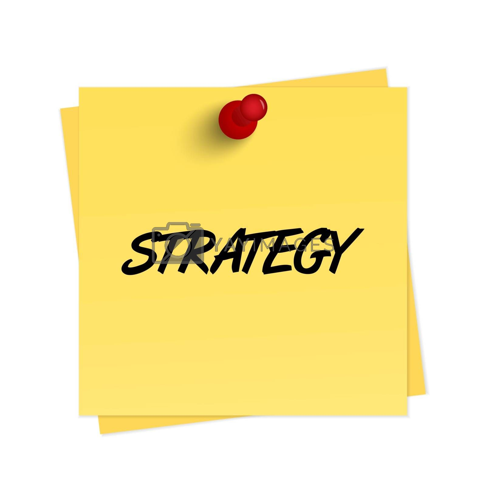 Royalty free image of Strategy text on reminder by simo988