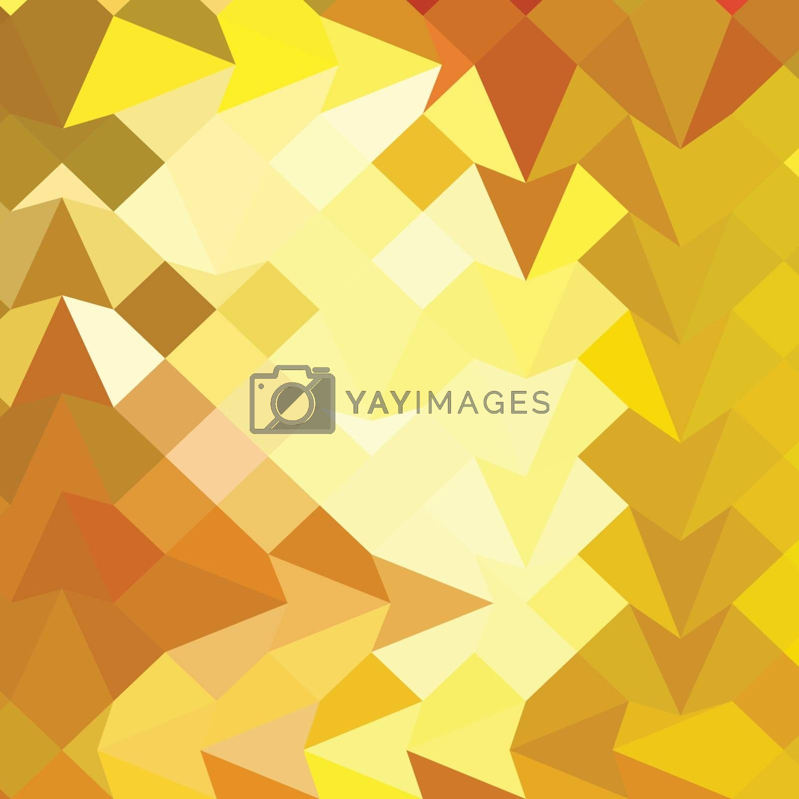 Low polygon style illustration of amber yellow abstract geometric background.