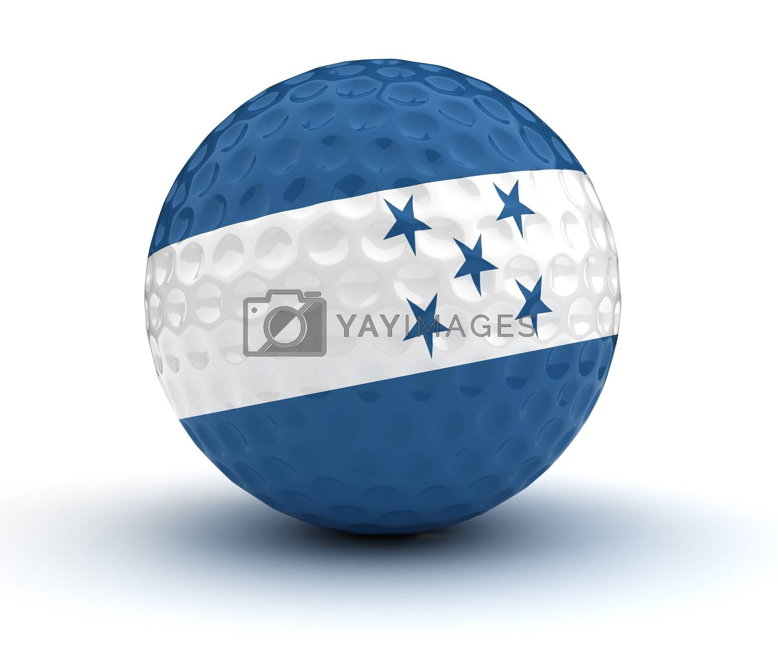 Honduran Golf Ball (Isolated with clipping path)