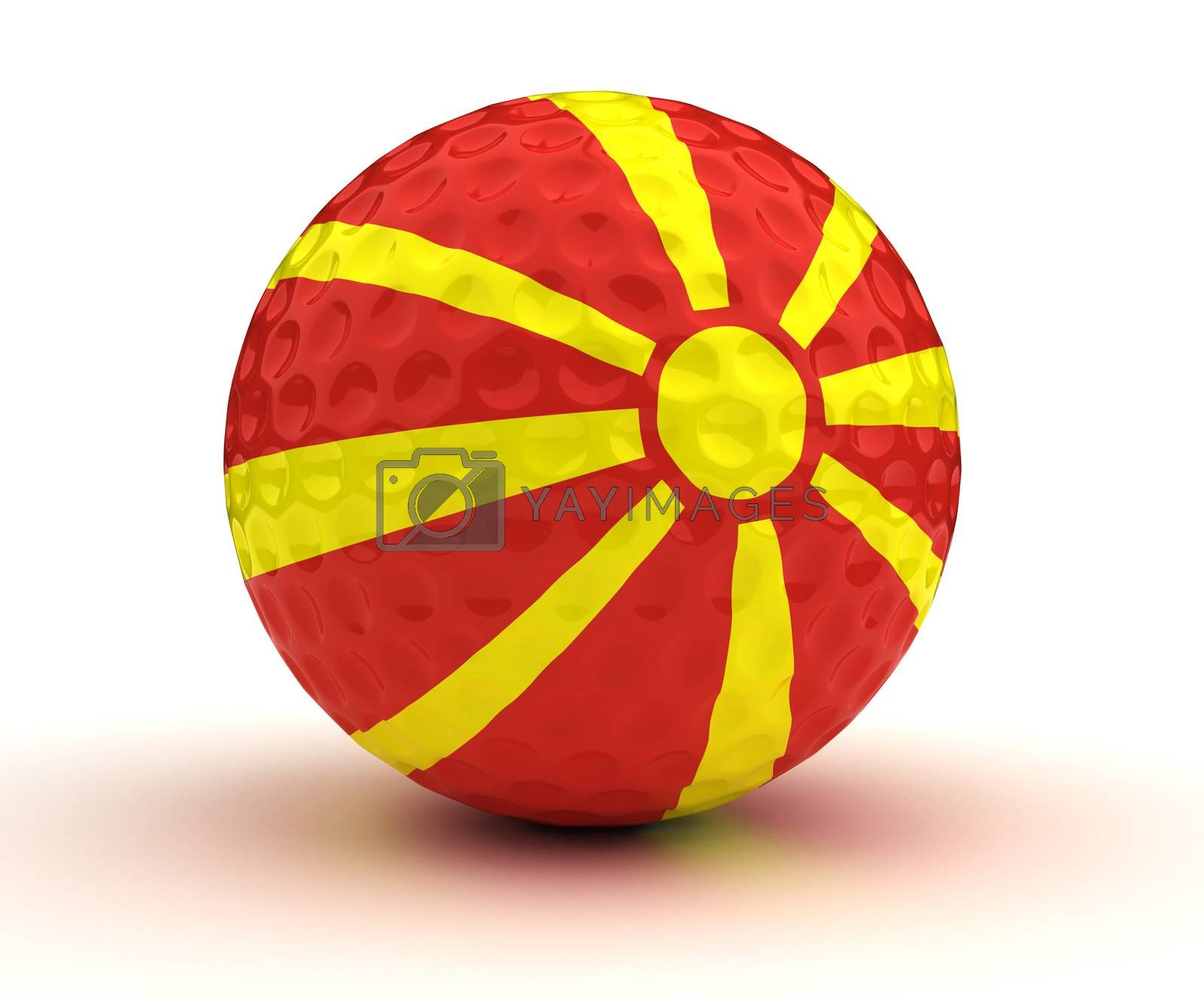 Macedonian Golf Ball (Isolated with clipping path)