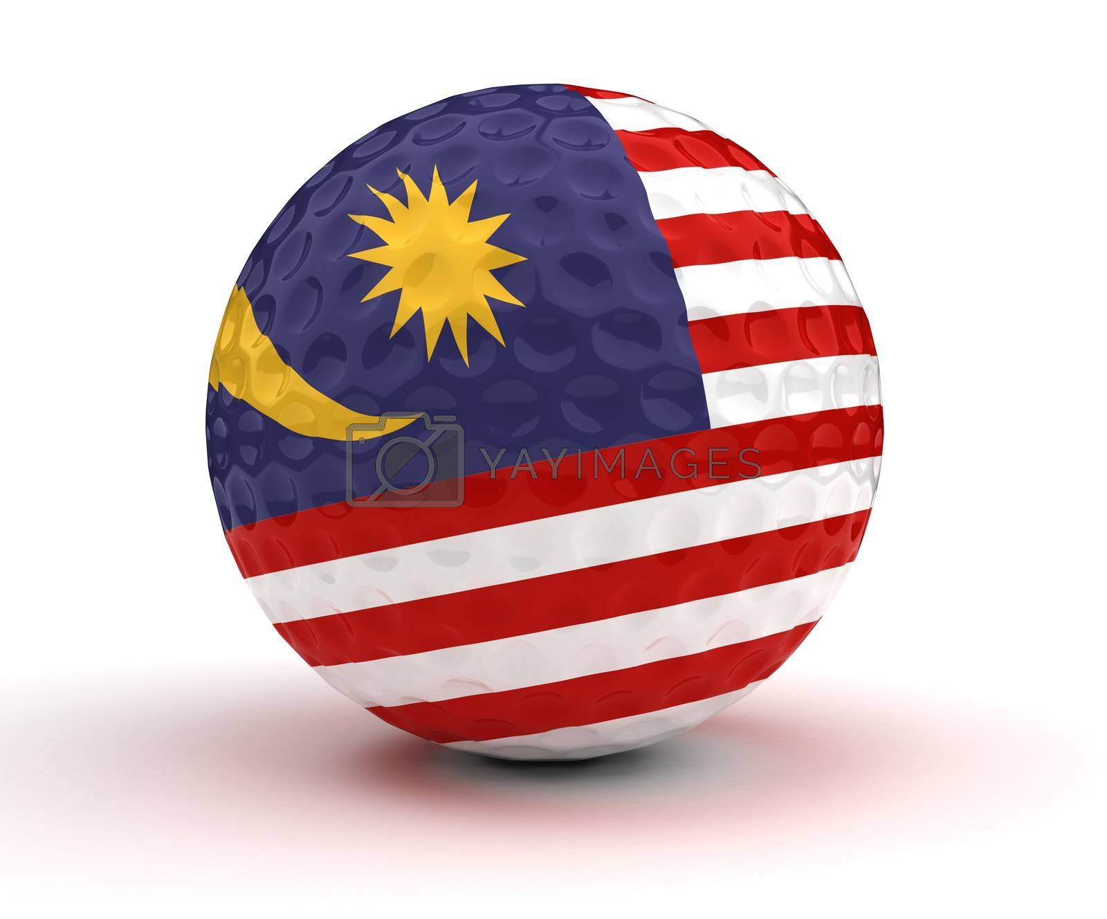 Malaysian Golf Ball (Isolated with clipping path)