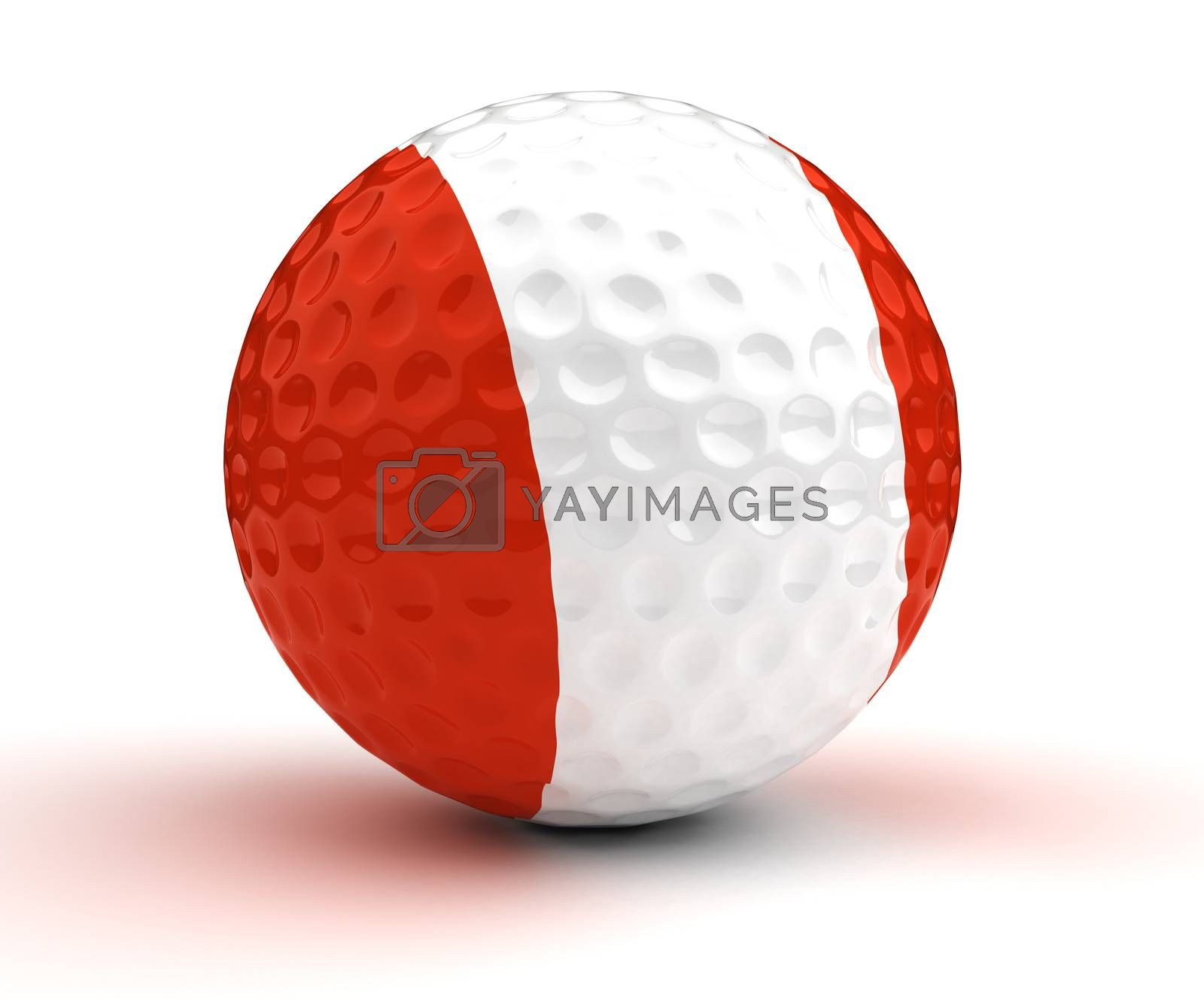 Peruvian Golf Ball (Isolated with clipping path)