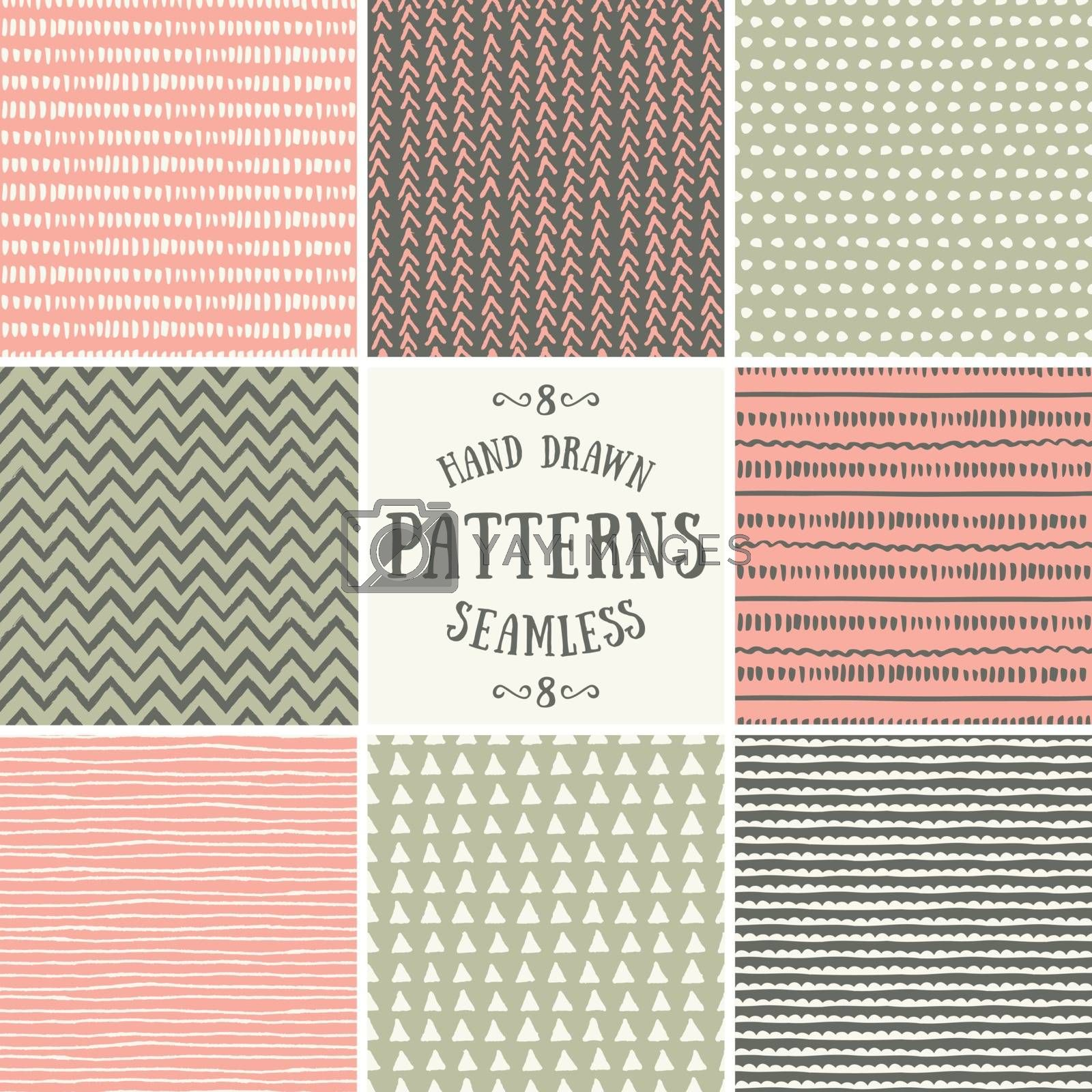 Abstract Seamless Patterns Collection by ivaleksa
