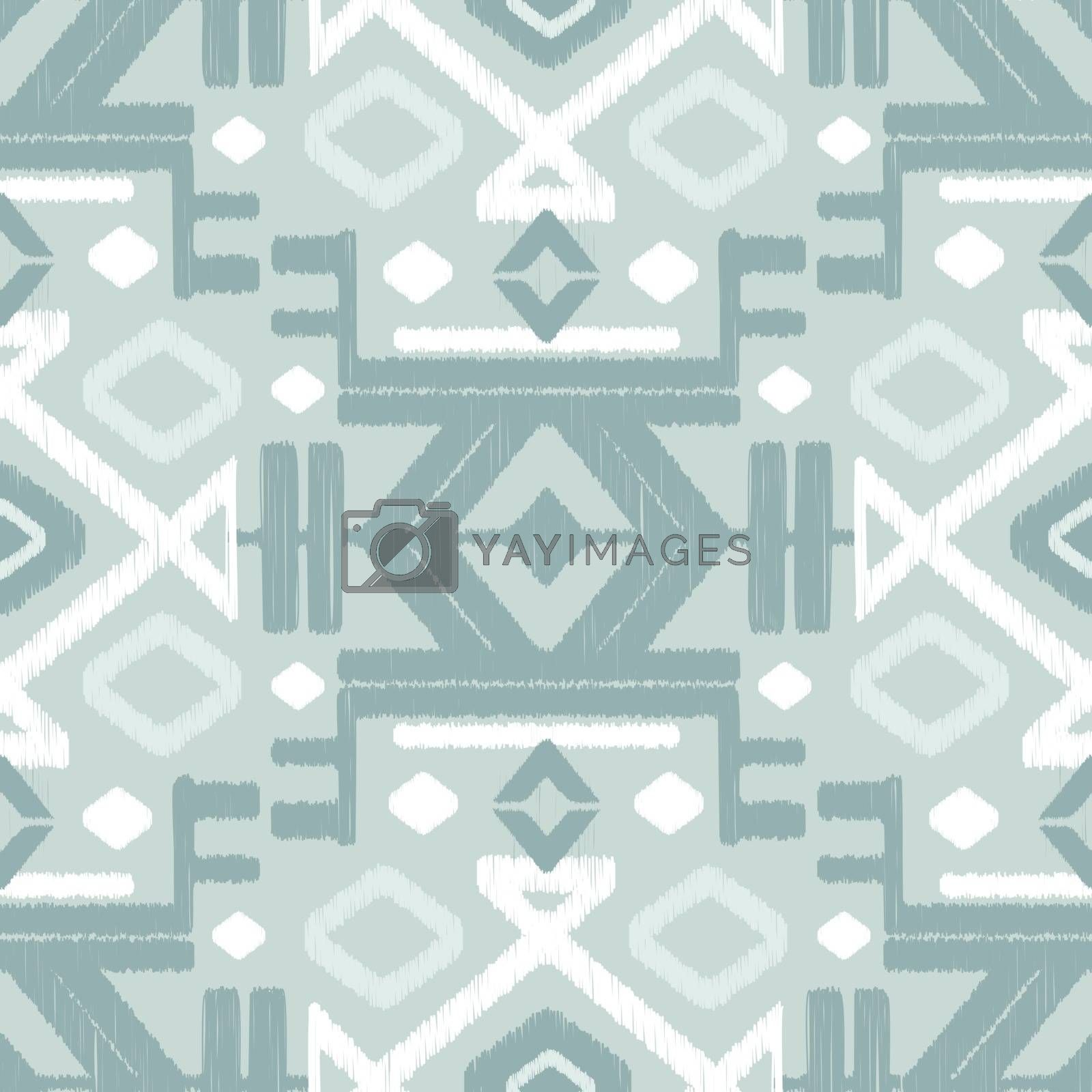 Vector abstract silver gray ikat seamless pattern background graphic design