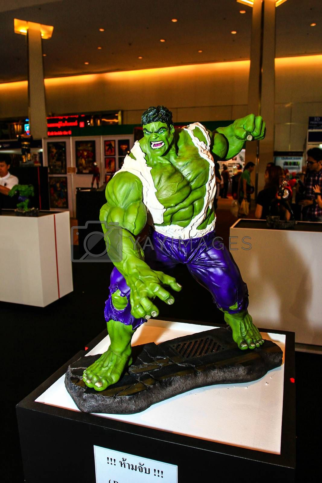 Royalty free image of A model of the character Hulk from the movies and comics by redthirteen