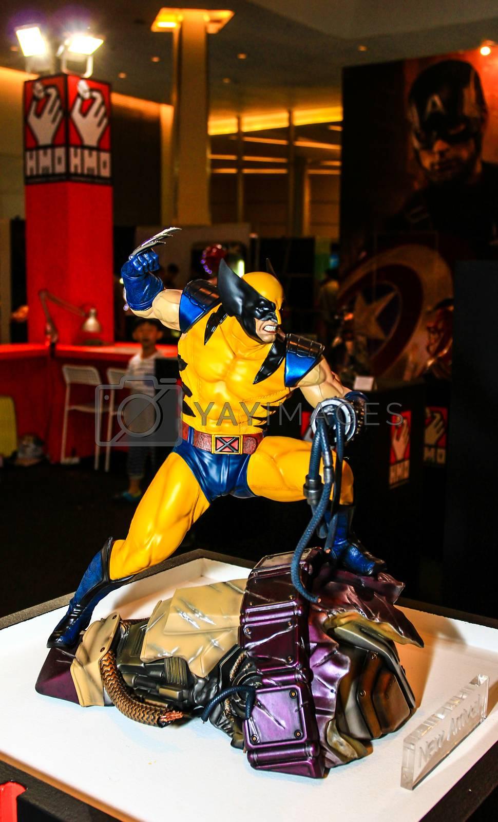 Bangkok - May 2: A Wolverine model in Thailand Comic Con 2015 on May 2, 2015 at Siam Paragon, Bangkok, Thailand.