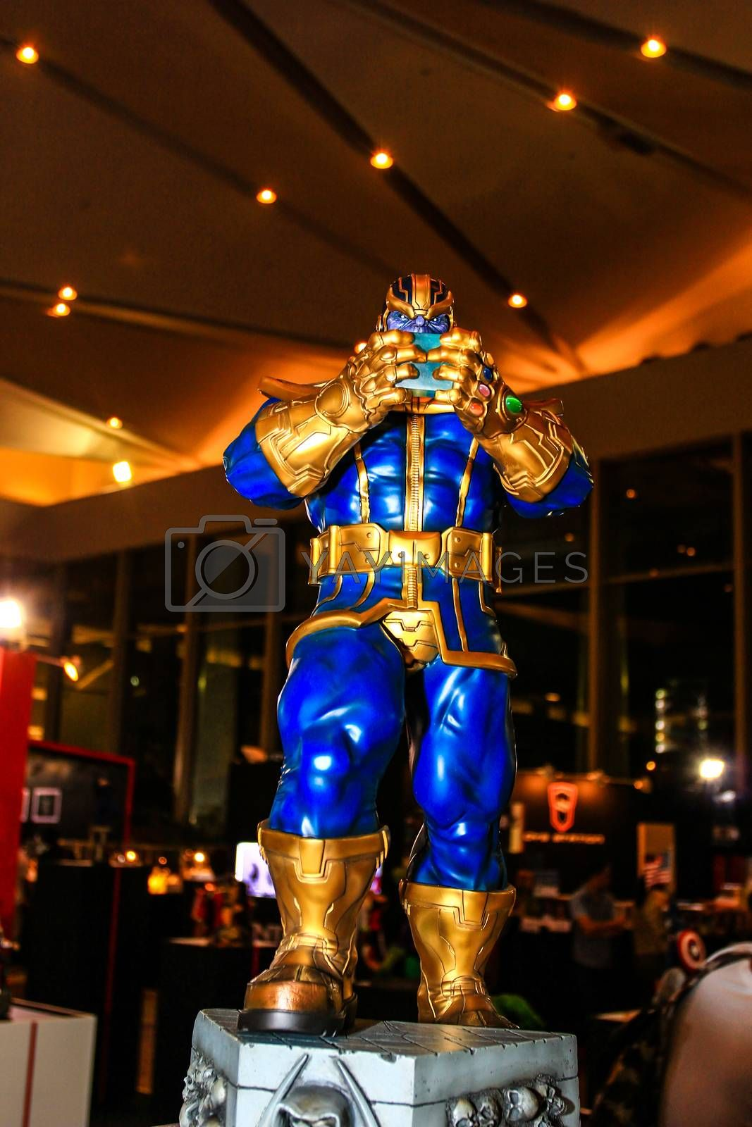 Royalty free image of A model of the character  Thanos from the movies and comics by redthirteen