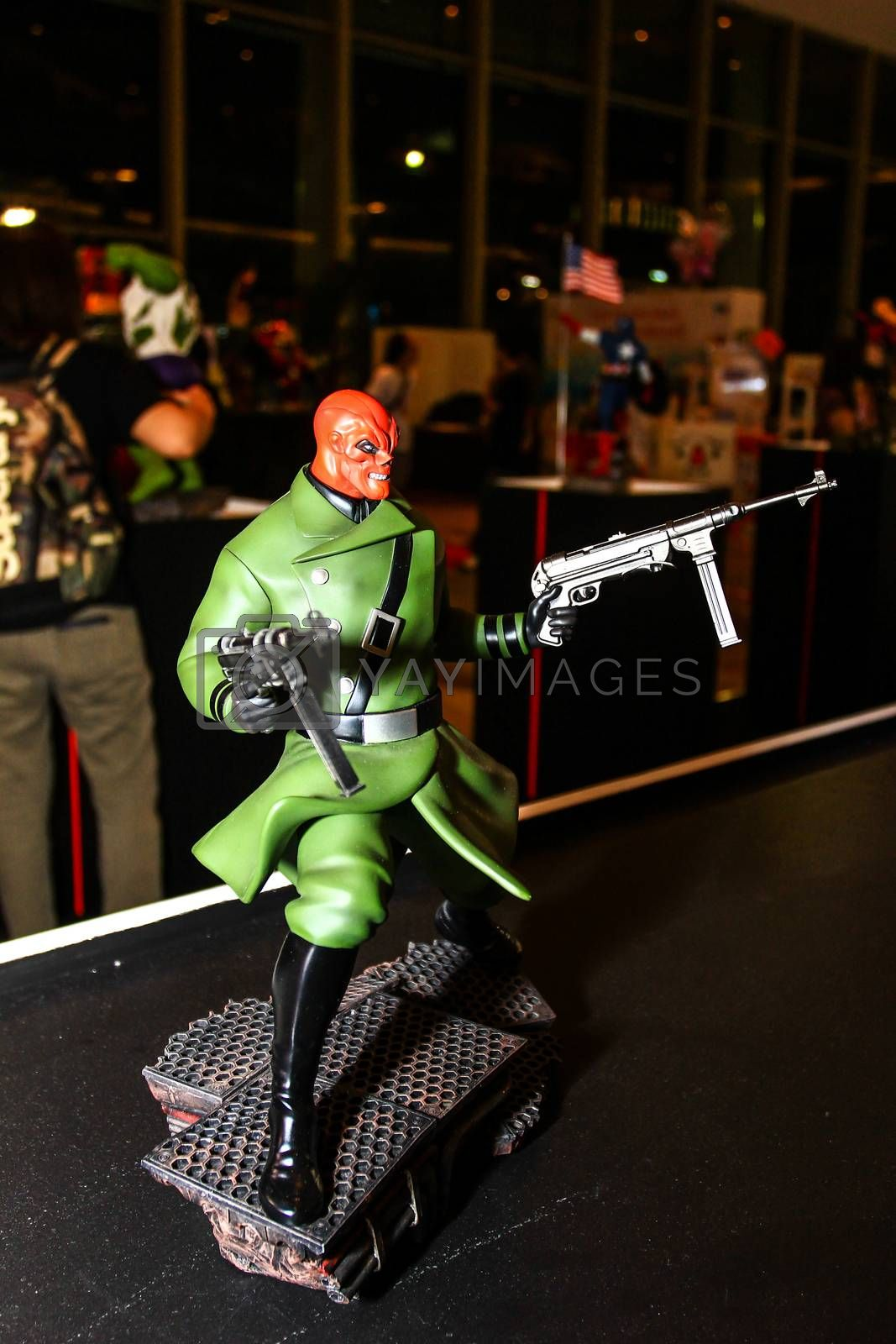 Royalty free image of A model of the character from the movies and comics by redthirteen