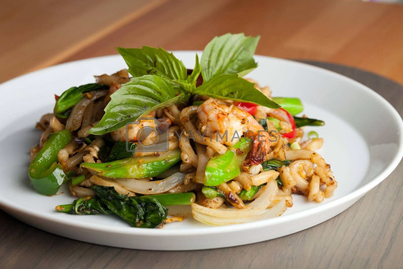 Thai Shrimp Stir Fry by graficallyminded