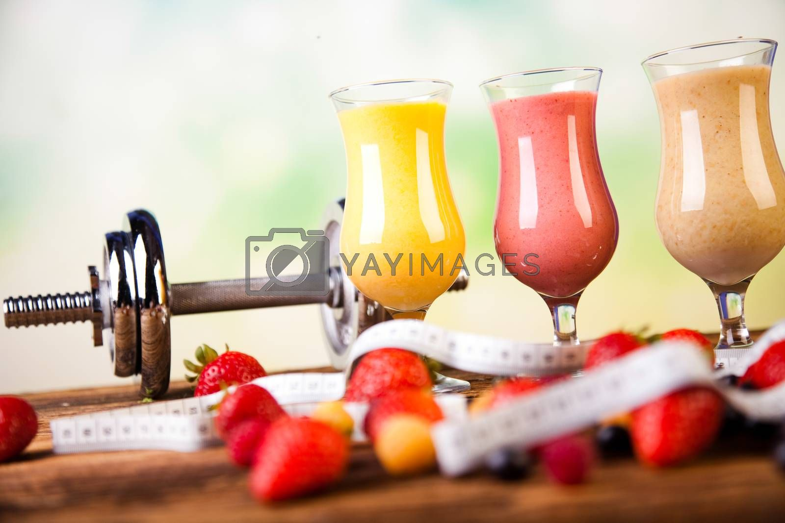 Protein shakes, sport and fitness by JanPietruszka