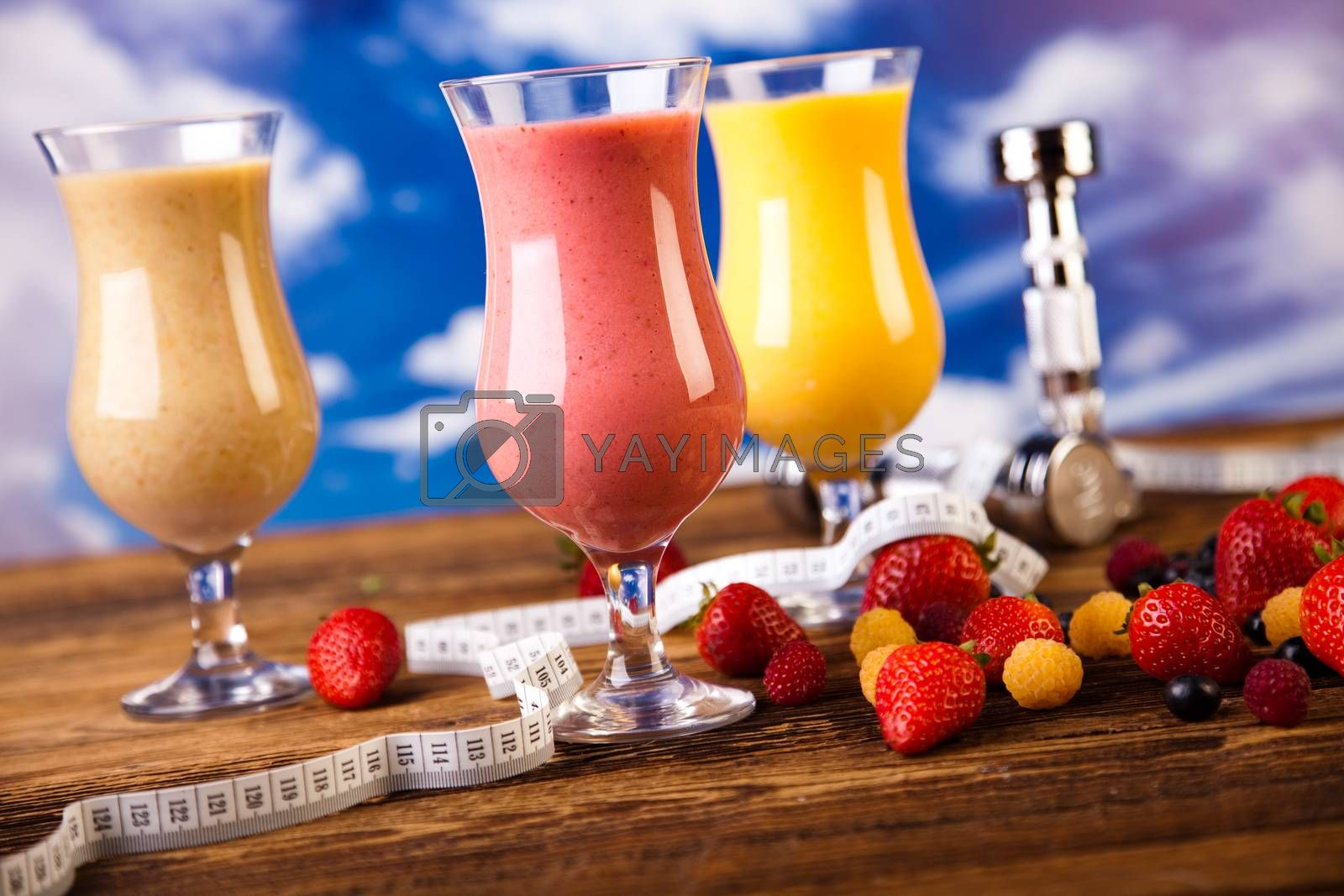 Royalty free image of Protein shakes, sport and fitness by JanPietruszka