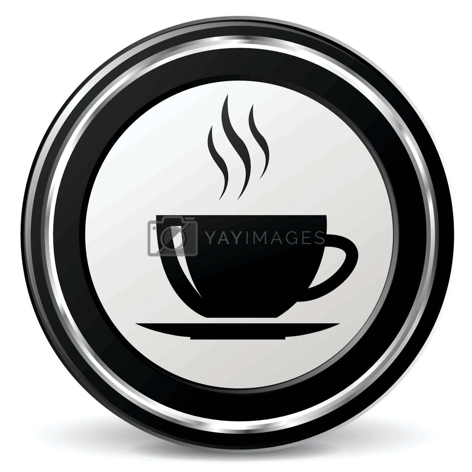 illustration of cup black and silver icon