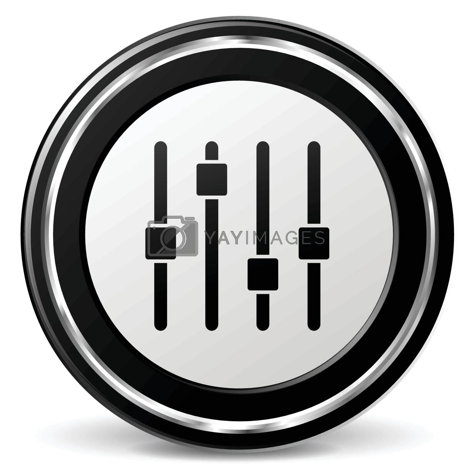 illustration of adjustment black and silver icon