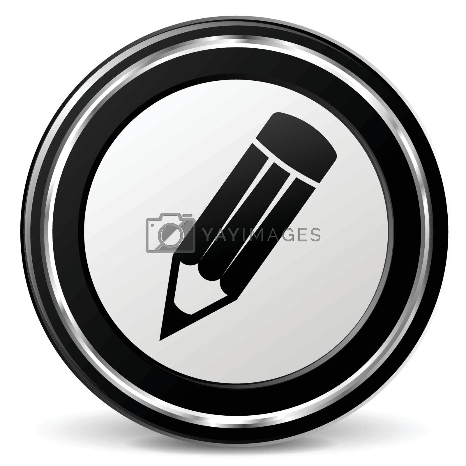 illustration of pencil black and silver icon