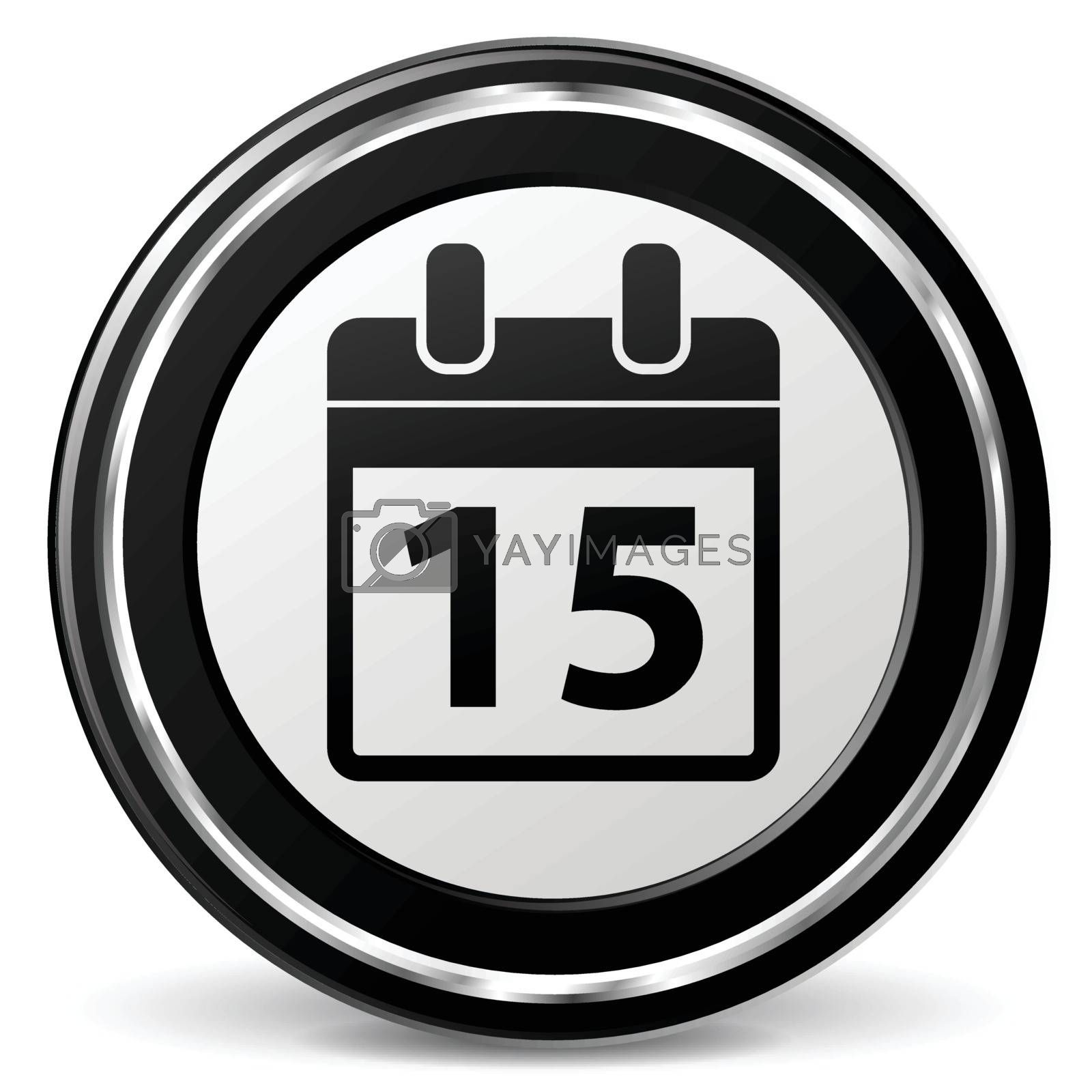 illustration of calendar black and silver icon