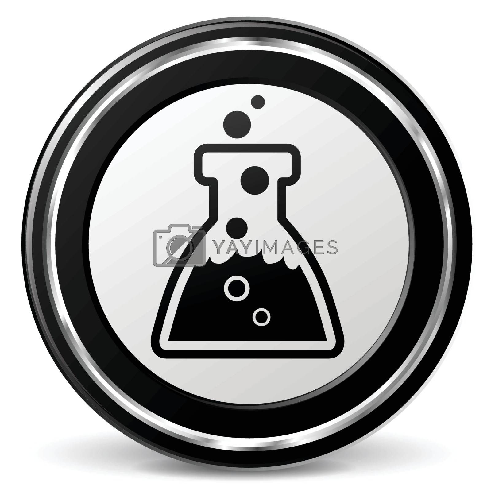 illustration of chemistry black and silver icon