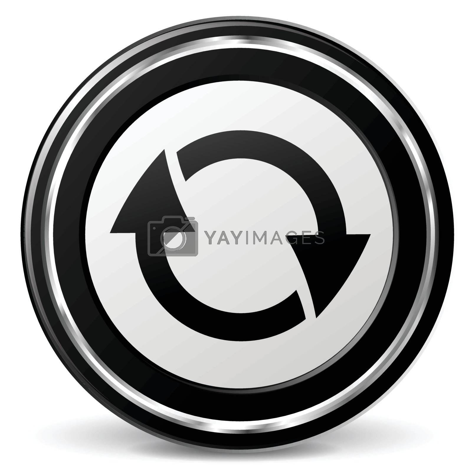 illustration of refresh black and silver icon