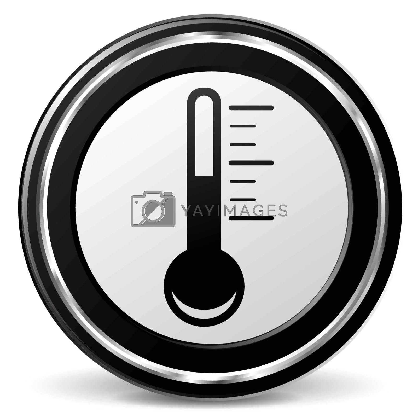 illustration of thermometer black and silver icon