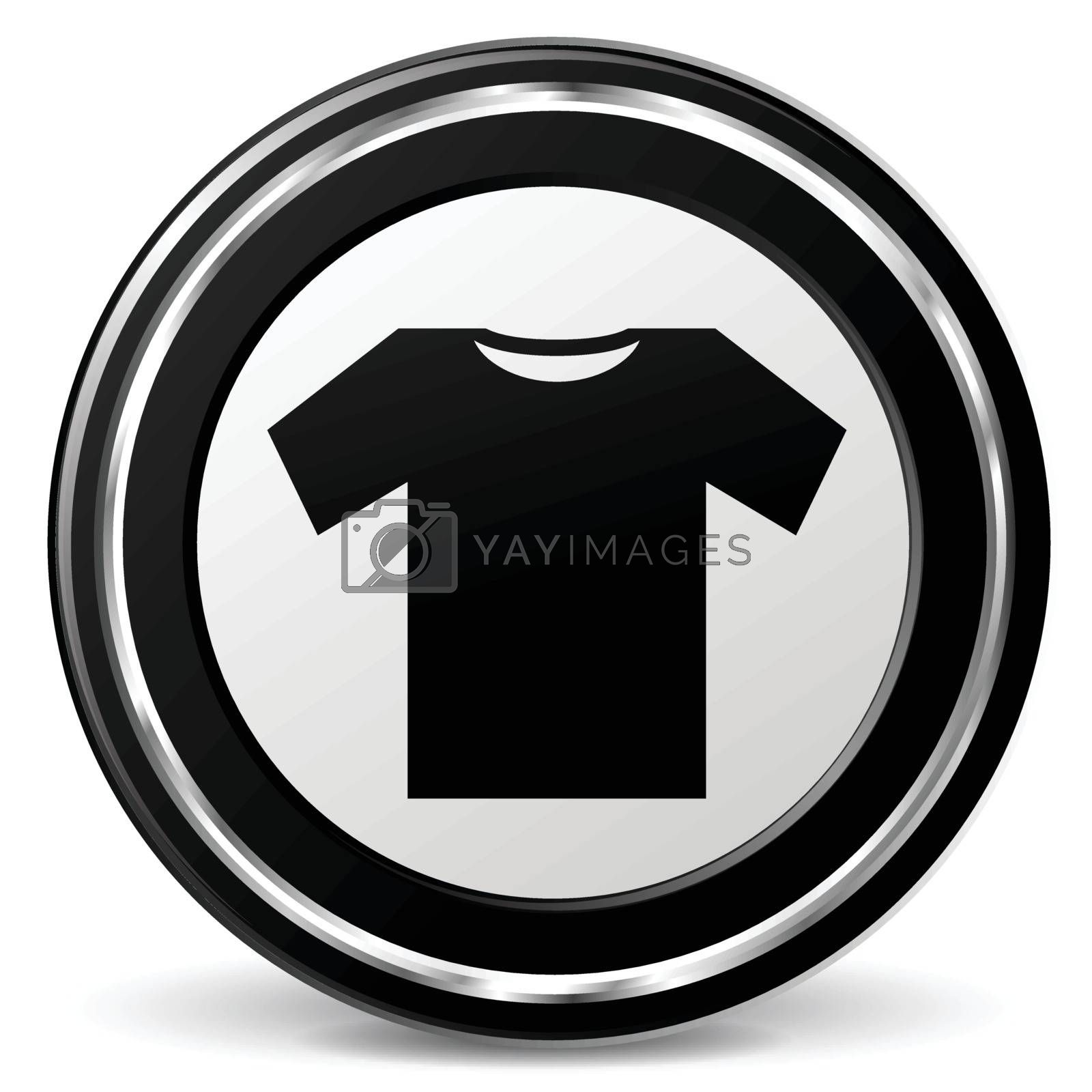 illustration of wear black and silver icon