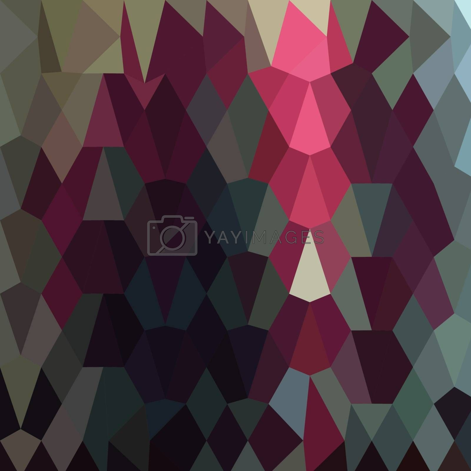 Low polygon style illustration of a burgundy abstract background.