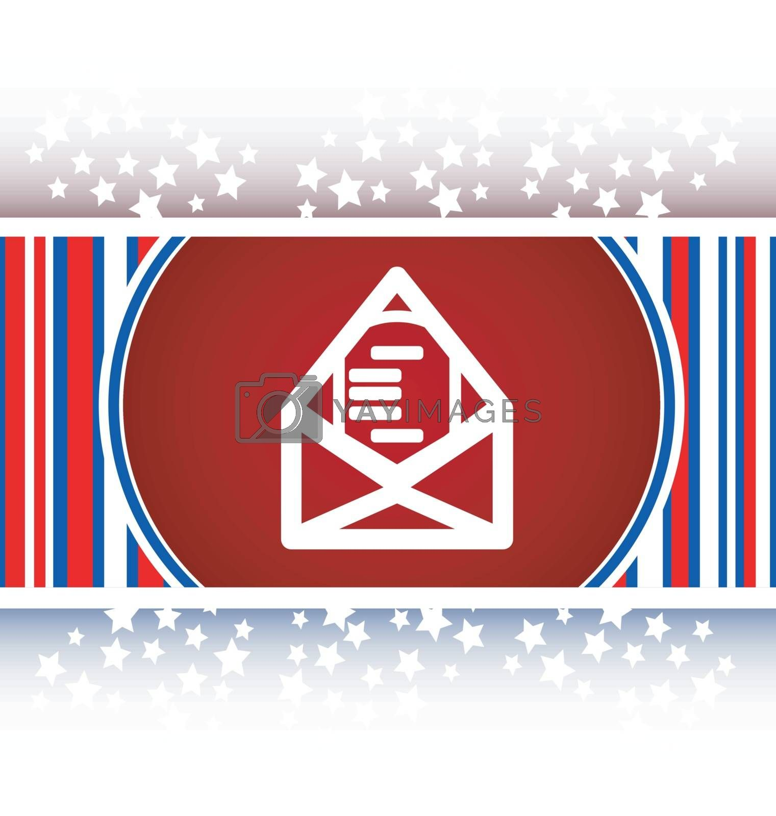 mail envelope icon web button isolated on white