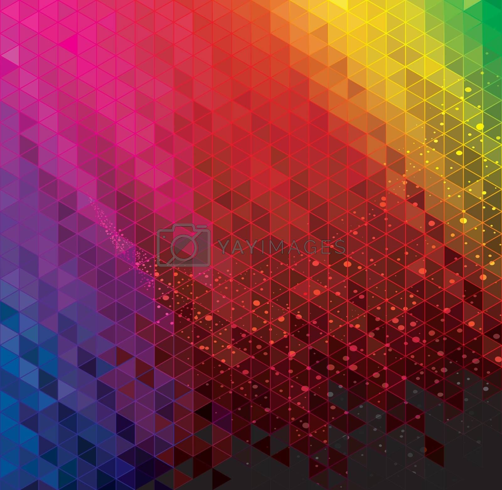 Abstract modern geometric colorful background.