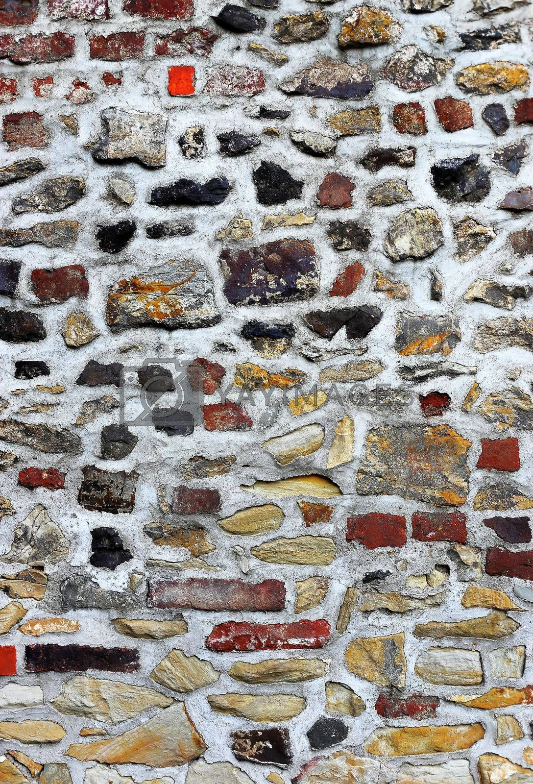 Texture of ancient stone wall